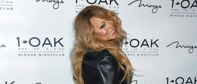27a43da8714 Mariah Carey Wore Nothing But A Leather Jacket And Lingerie In Las Vegas