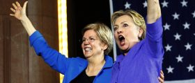 The Photos From Hillary's Campaign Event With Elizabeth Warren Are Terrifying [SLIDESHOW]
