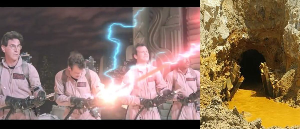 What do Ghostbusters and Gold King Mine have in common? They both suffered from EPA-caused disasters. (L: YouTube screenshot (https://www.youtube.com/watch?v=89OOSFlcy98), R: Reuters/EPA Handout)