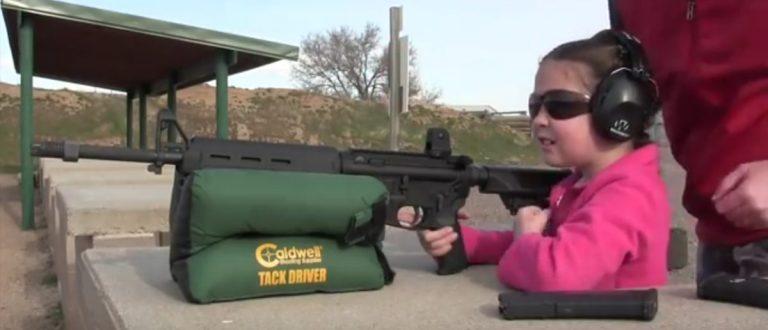 Girl shoots AR-15