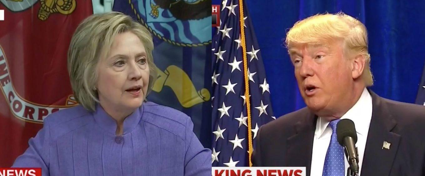 Hillary Clinton, Donald Trump, Screen Grabs CNN, MSNBC