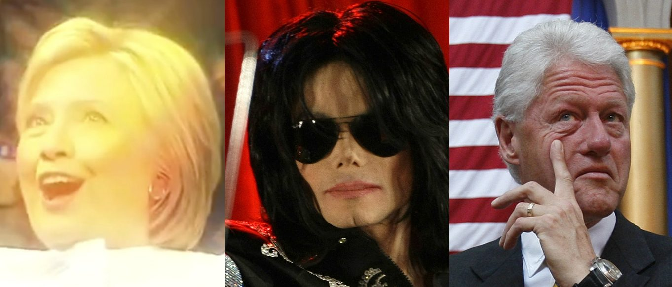 Hillary Clinton, Michael Jackson, Bill Clinton, Screen Grab CNN, Reuters