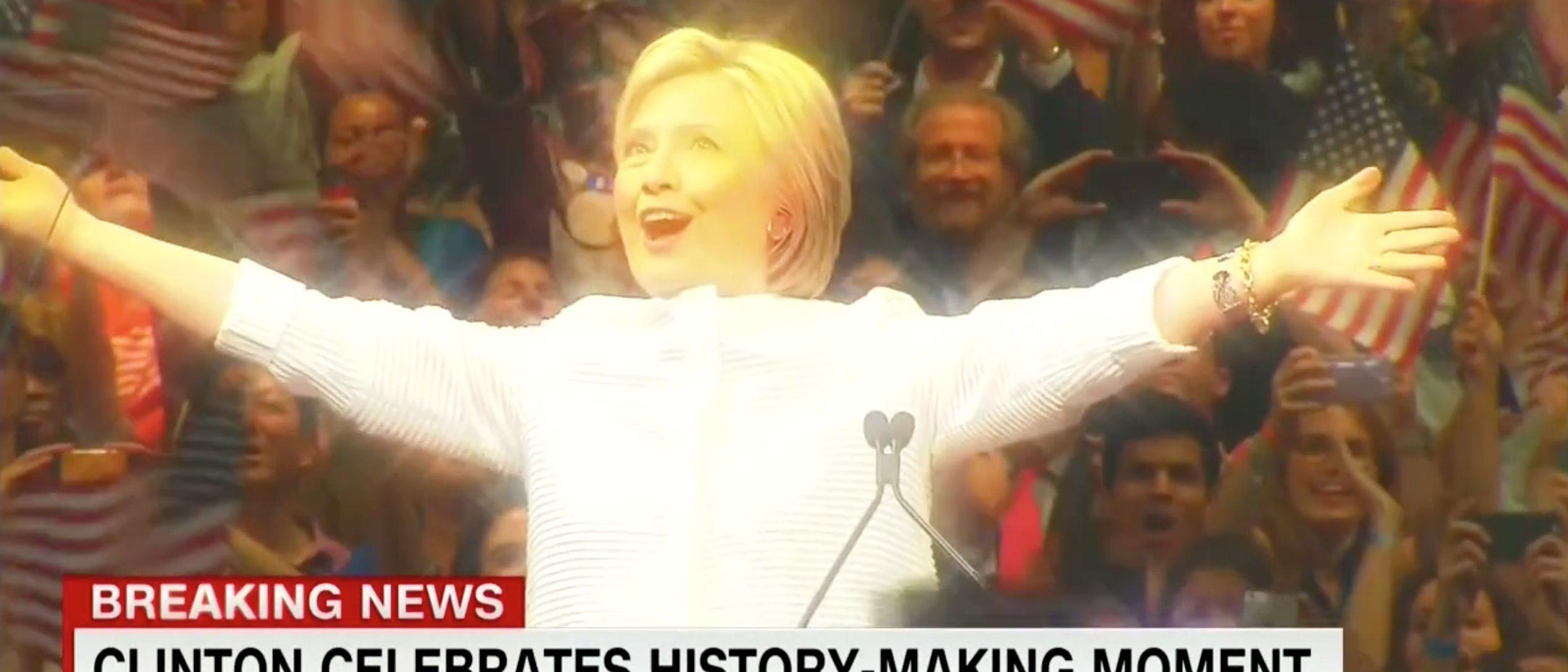 Hillary Clinton, Screen Grab CNN, 6-8-2016