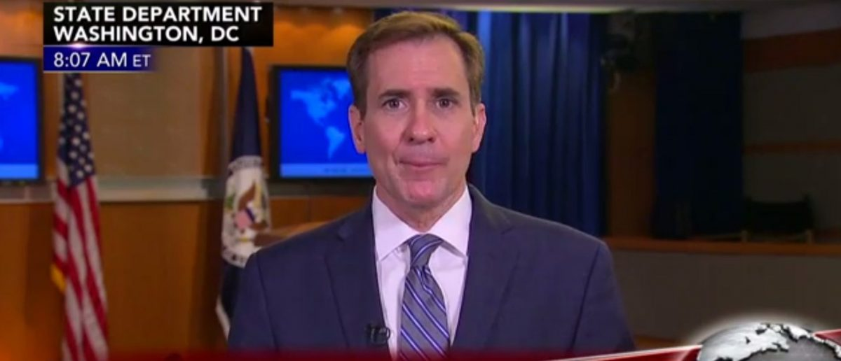 John Kirby, Screen Grab Fox News, 6-2-2016