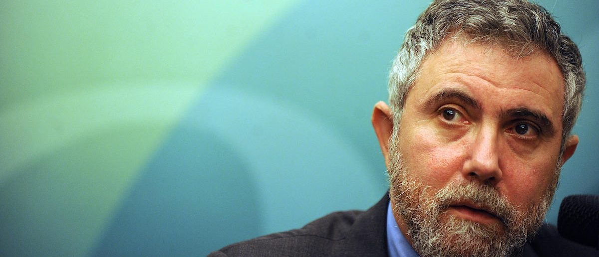 Dr Paul Krugman, 2008 Nobel Laureate, speaks at a press conference held by the Securities and Futures Commission (SFC) in Hong Kong on May 22, 2009. Krugman was speaking on the economy at a media event to celebrate 20 years of the SFC.   AFP PHOTO/MIKE CLARKE (Photo credit should read MIKE CLARKE/AFP/Getty Images)