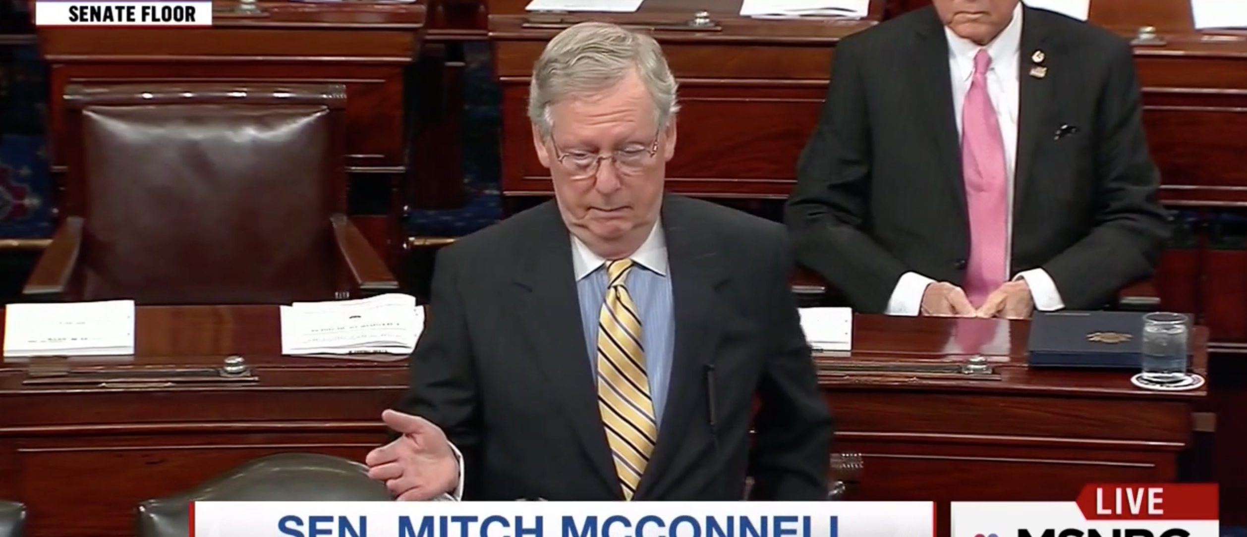 Mitch McConnell, Screen Grab MSNBC, 6-16-2016
