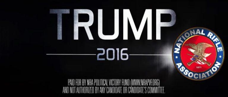 NRA Trump Ad Donald Trump Ad, Screen Grab 6-29-2016