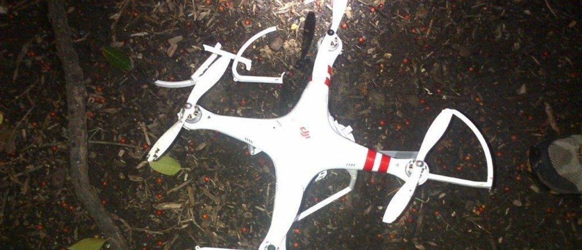 Handout image of recreational drone that landed on White House South Lawn in Washington