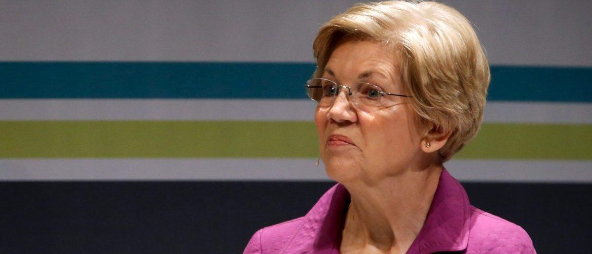 Senator Elizabeth Warren turns up her nose (Photo: JONATHAN ERNST/ REUTERS)