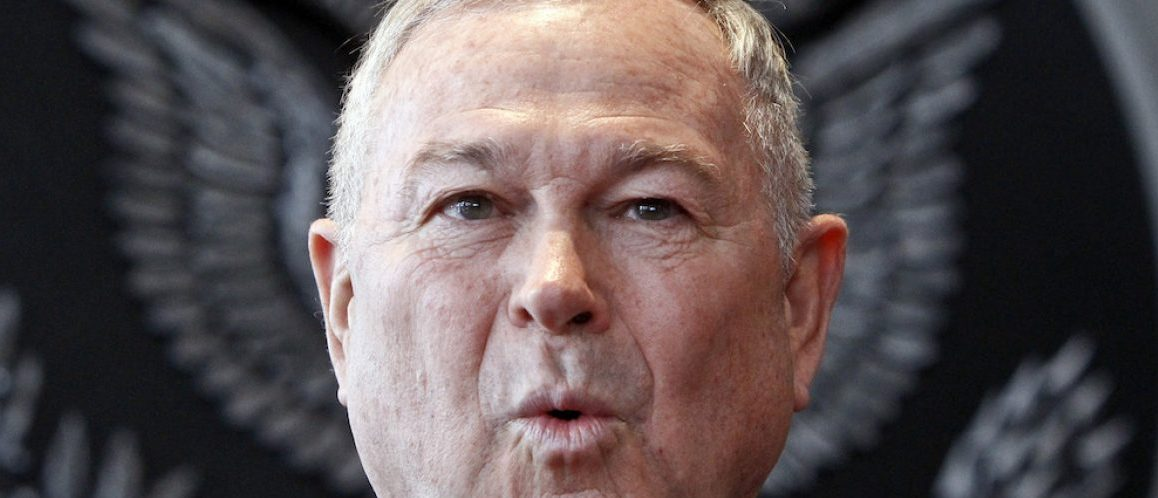 Republican U.S. Representative Dana Rohrabacher speaks at a news conference in Moscow June 2, 2013. U.S. lawmakers on a mission to Russia said on Sunday they had found no evidence that an American intelligence error enabled the Boston bombings, but that closer cooperation between Washington and Moscow might have helped to thwart the attack, in which three people died and 264 were injured. REUTERS/Maxim Shemetov