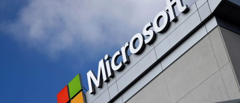 A Microsoft logo is seen a day (REUTERS/Lucy Nicholson)