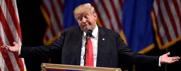 Republican U.S. presidential candidate Donald Trump speaks during a campaign rally at the Treasure Island Hotel & Casino in Las Vegas, Nevada June 18, 2016. REUTERS/David Becker - RTX2GYKJ