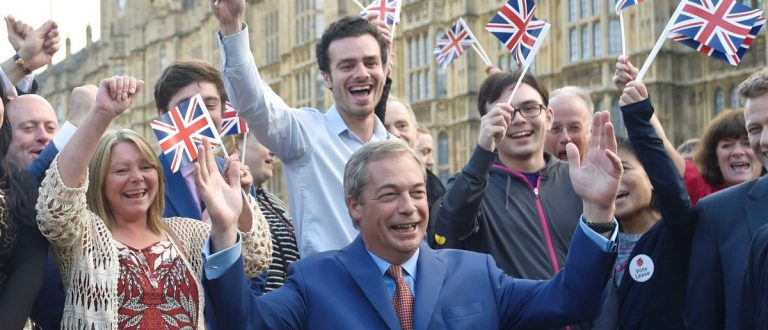 Nigel Farage, the leader of the United Kingdom Independence Party (UKIP), makes a statement after Britain voted to leave the European Union in London