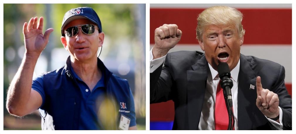 Jeff Bezos, Donald Trump (Reuters Pictures)