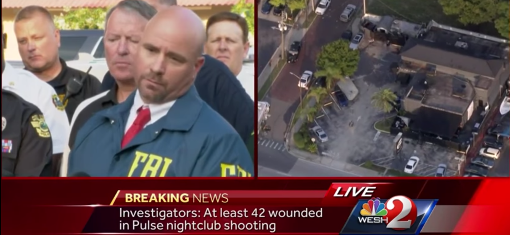 Orlando Law Enforcement Press Conference on Nightclub shooter (screen capture NBC2)