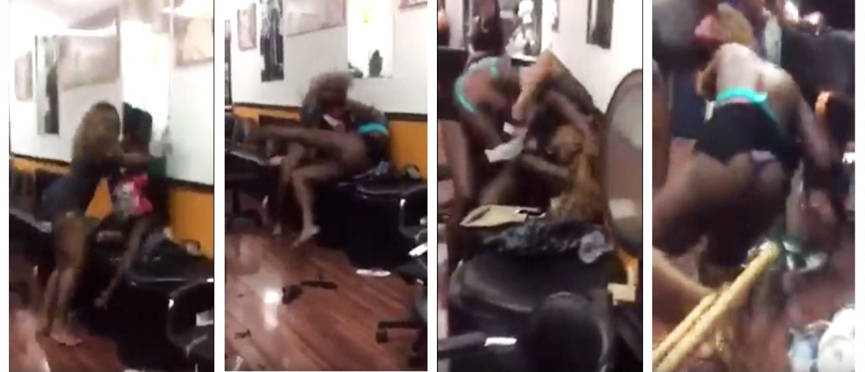 This NYC Slugfest Is The Craziest Fight You've Ever Seen Go Down In A Beauty Parlor (YouTube)