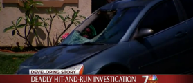 Driver Hits Man, Drives A Mile With Most Of His Body In Passenger Seat