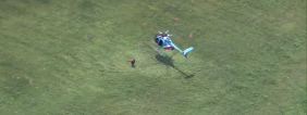 Outrageous: Police Pilots Whips Helicopter To A Landing, Jumps Out, Tackles Fugitive [VIDEO]