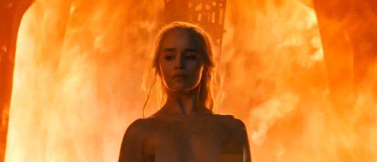 Emilia Clarke nude on Game of Thrones