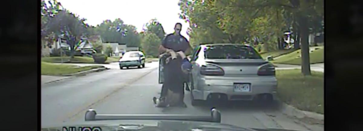 Officer picks up tased teen, Screenshot, Dashcam Video, Independence Police, KansasCity.com