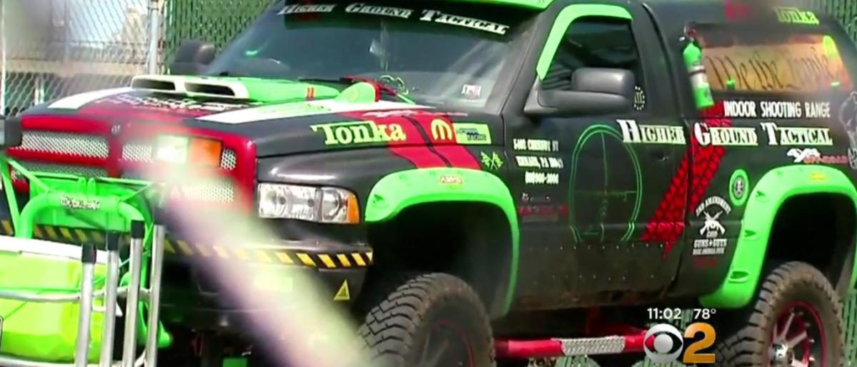 John Cramsey's truck, Screenshot, CBS New York