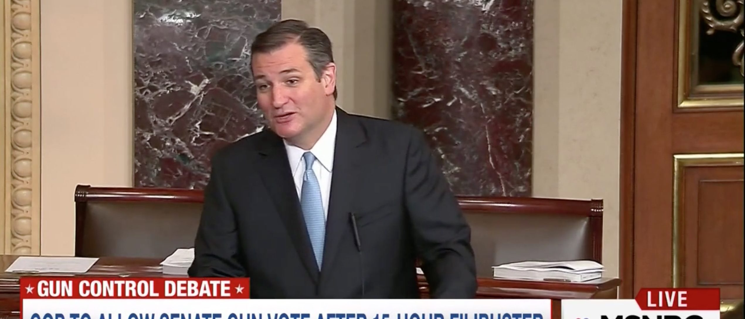 Sen. Ted Cruz, Screen Grab MSNBC, 6-16-2016