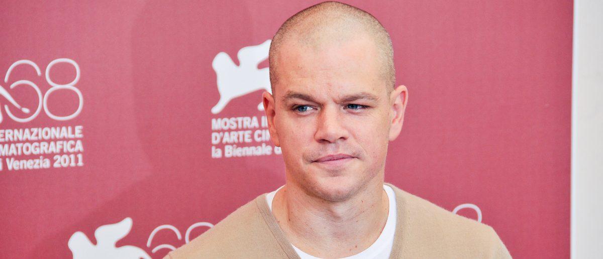 VENICE - SEPTEMBER 3: Actor Matt Damon poses at photocall
