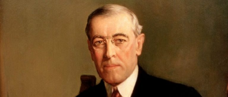 Woodrow Wilson public domain painting by Frank Graham Cootes
