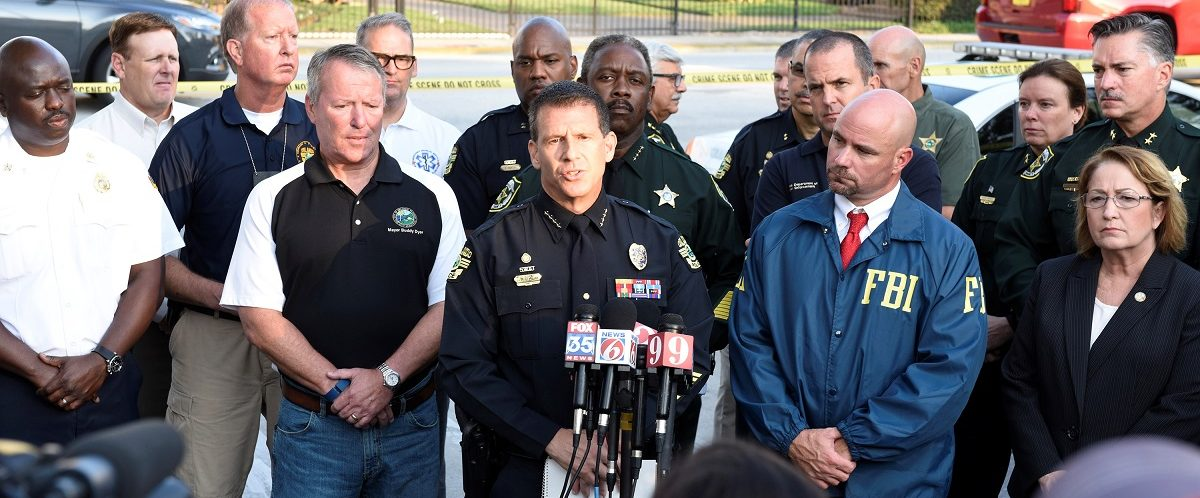 Orlando Police Chief John Mina and other city officials answer the media's questions about the Pulse nightclub shooting in Orlando, Florida June 12, 2016. REUTERS/Kevin Kolczynski.