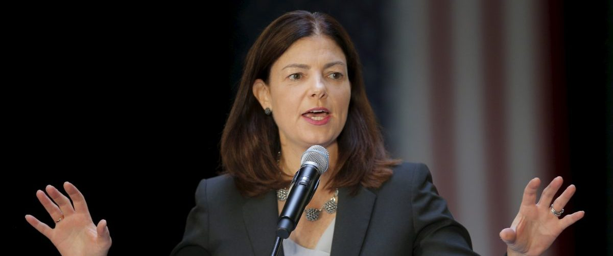 U.S. Senator Kelly Ayotte speaks at the No Labels Problem Solver Convention in Manchester
