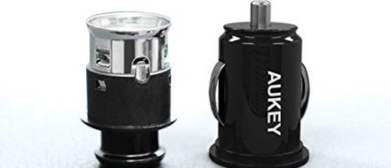 The AUKEY CC-S1 is one of the smallest car chargers in the world (Photo via Amazon)