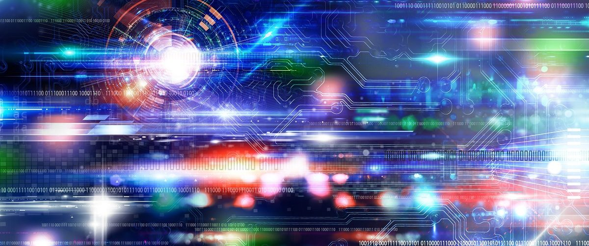 Abstract technology background. (Shutterstock)