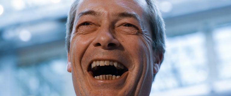 Farage, leader of the United Kingdom Independence Party gives interviews ahead of a European Union leaders summit addressing the talks about the so-called Brexit and the migrants crisis, in Brussels