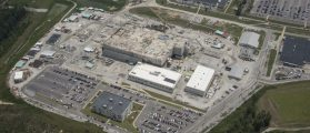An aerial view of the MOX project at the Savannah River Site in Aiken, S.C. (Credit: MOX Services)