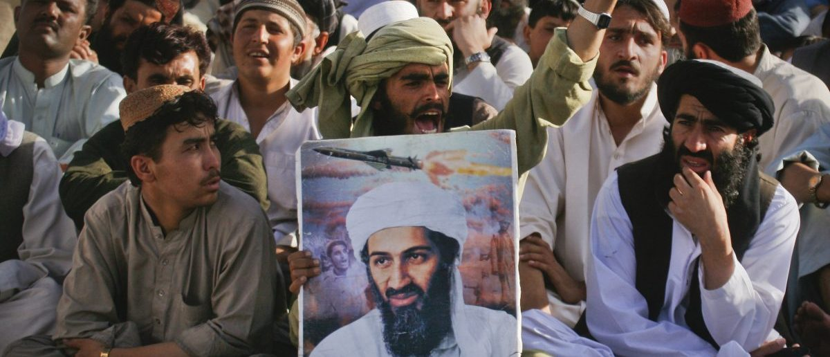 Supporters of al-Qaeda leader Osama bin Laden shout anti-American slogans, after the news of his death, during a rally in Quetta May 2, 2011. Bin Laden was killed in a U.S. helicopter raid on a mansion near the Pakistani capital Islamabad early on Monday, officials said, ending a nearly 10-year worldwide hunt for the mastermind of the Sept. 11 attacks. U.S. officials said bin Laden was found in the million-dollar compound in the military garrison town of Abbottabad, 60 km (35 miles) north of Islamabad. REUTERS/Naseer Ahmed