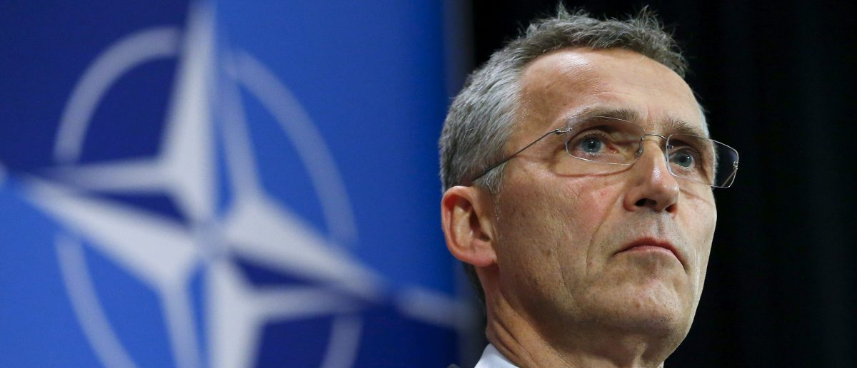 NATO Secretary-General Jens Stoltenberg holds a news conference during a meeting of the NATO foreign affairs ministers at the Alliance headquarters in Brussels, Belgium, December 1, 2015. REUTERS/Yves Herman