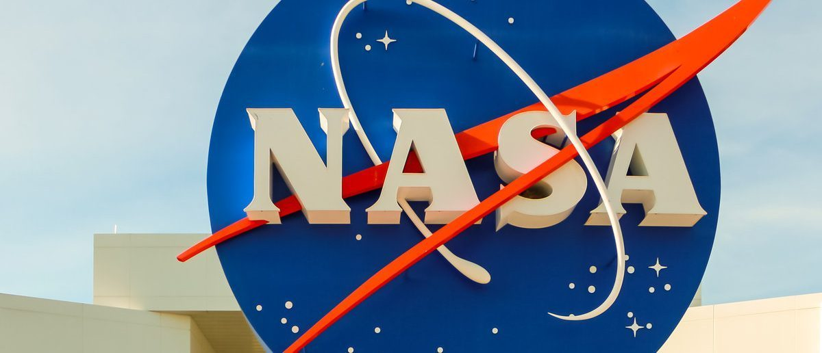 NASA sign at the entrance of the Kennedy Space Center in Cape Canaveral, Fla. (Alexanderphoto7 / Shutterstock.com)