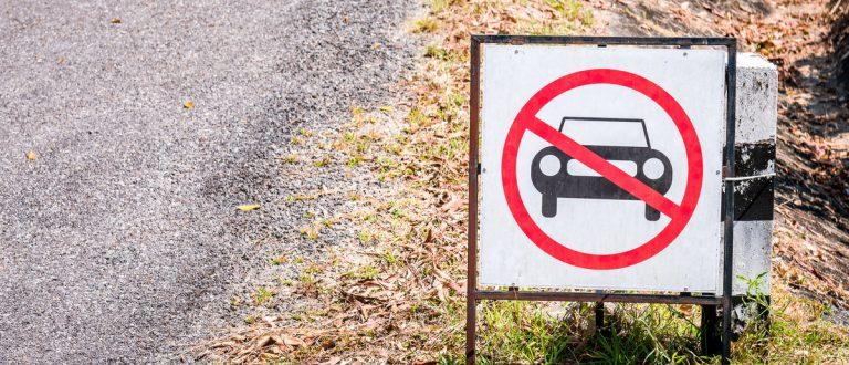 No Car or No Parking Sign (Shutterstock.com/Geet Theerawat)