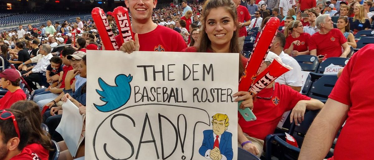 Republican fans at the Congressional Baseball Game in 2016. (Andrew Follett/The Daily Caller News Foundation)