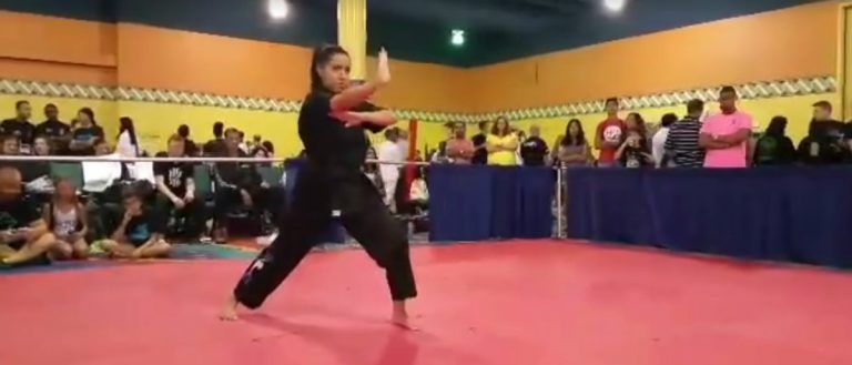 screenshot from video at Facebook page of Next-Gen Xtreme Martial Arts