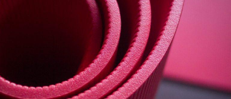 Red fitness/gymnasium foammat. Shutterstock - edwardolive