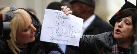 Speaker Melissa Mark-Viverito led an interfaith rally to denounce Donald Trump's call to ban Muslim entry into the U.S. (a katz / Shutterstock.com)