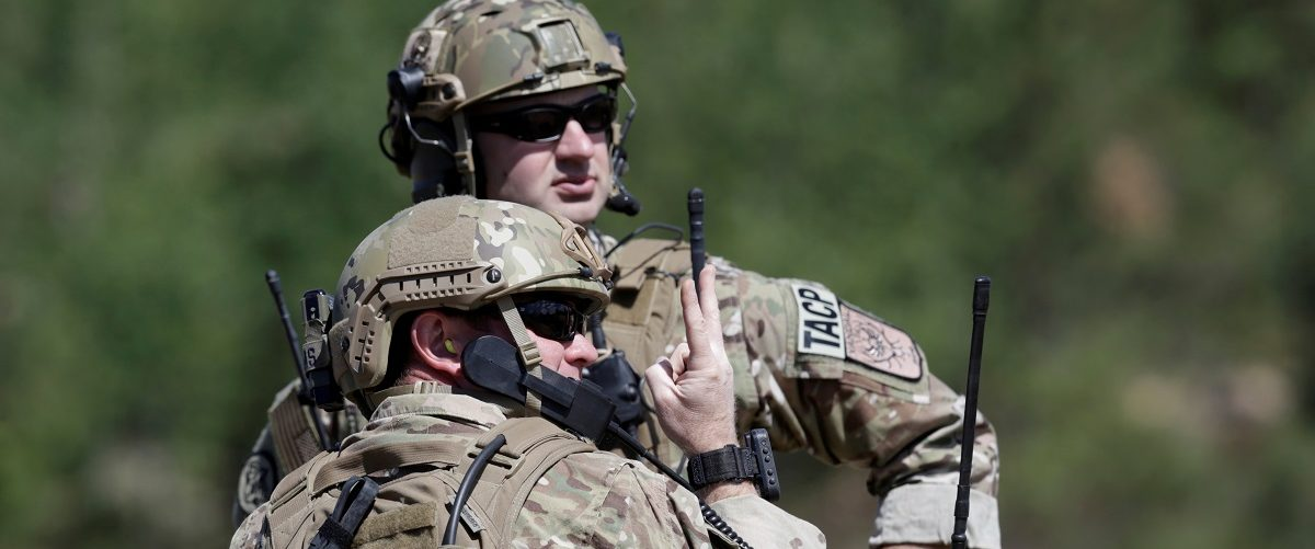 "U.S. army soldiers take part in the ""Saber Strike"" NATO military exercise in Adazi"