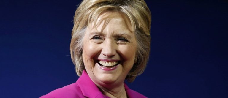 Democratic U.S. presidential candidate Clinton smiles at campaign rally in Charlotte, North Carolina