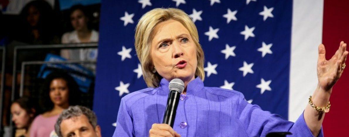Presumptive Democratic presidential nominee Hillary Clinton speaks at the campus of the University of Cincinnati in Cincinnati, Ohio, July 18, 2016. REUTERS/William Philpott