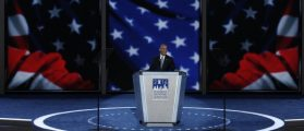 Obama Channels Reagan's Optimism In DNC Speech