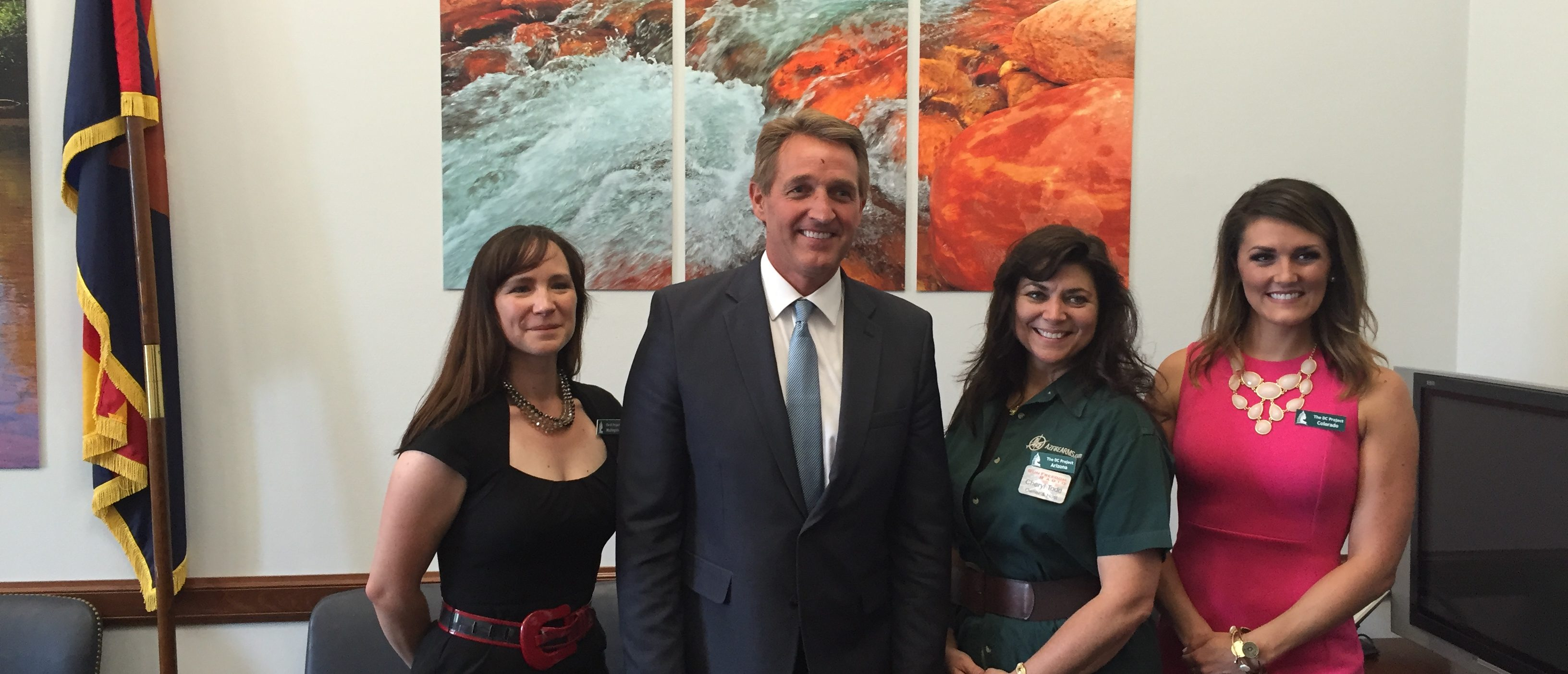 Katy Brown (WA), AZ Senator Jeff Flake, Cheryl Todd (AZ), Kimberly Corban (CO)