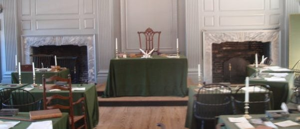 The room in which the Declaration of Independence was written, Independence Hall, Philadelphia (Photo Credit: Derek Hunter)
