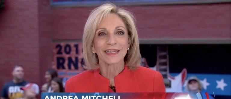 Andrea Mitchell, Screen Grab NBC, 7-21-2016