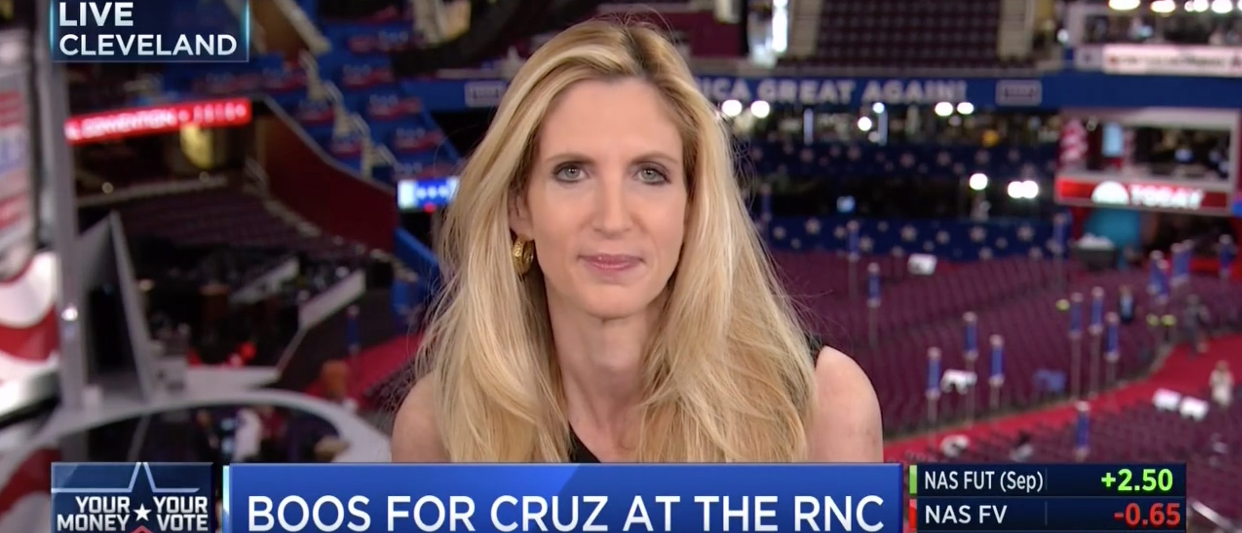 Ann Coulter, Screen Grab CNBC, 7-21-2016